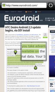 Обновление HTC Desire до Android 2.3