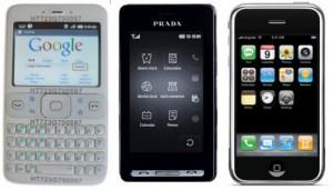 Прототип первого Android-смартфона, LG Prada, iPhone