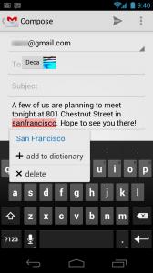 Ввод текста Android 4.0