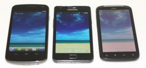 Galaxy Nexus vs Galaxy S II vs HTC Sensation