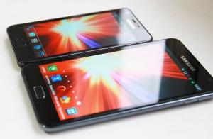 Сравним экраны Samsung Galaxy S II и Samsung Galaxy Note