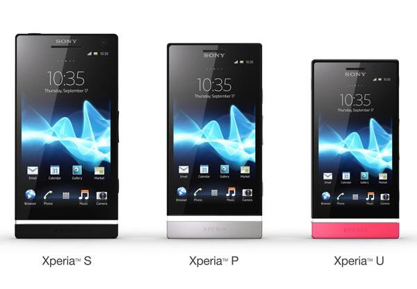 Sony Xperia S, Sony Xperia P, Sony Xperia U