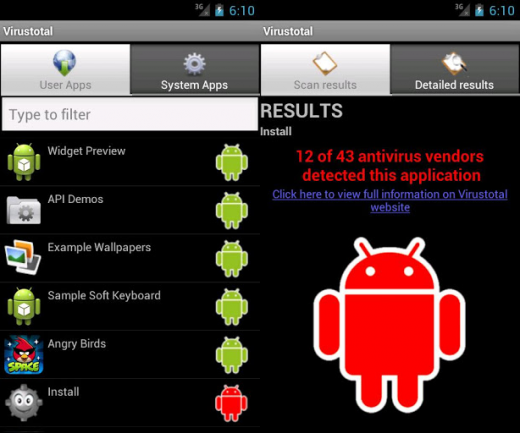 Virustotal Android