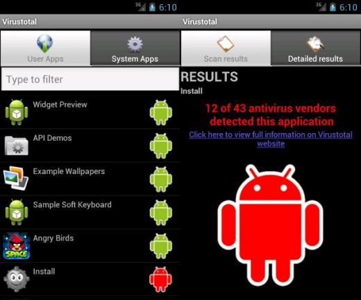 Virustotal Android