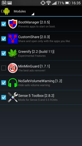 Custom Share + Xposed Framework